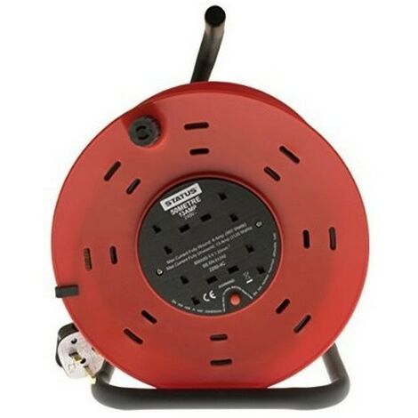 Extension Cable Reel 50 Metre 240V 13 Amp 4 Socket With Cut Out