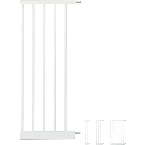 Extensión para barreras de seguridad XL, Conector, Ancho de 30 cm, Blanco