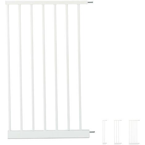 Extensión para barreras de seguridad XXL, Conector, Ancho de 45 cm, Blanco