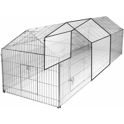 Extension pour enclos extérieur zingué avec bâche