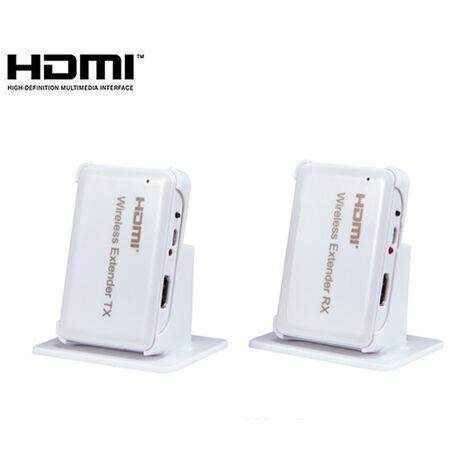 Extensor inalámbrico HDMI Yatek YK-W30, alcance 30 metros maximo, 60Ghz Resolución 1080P, 3D y HDCP