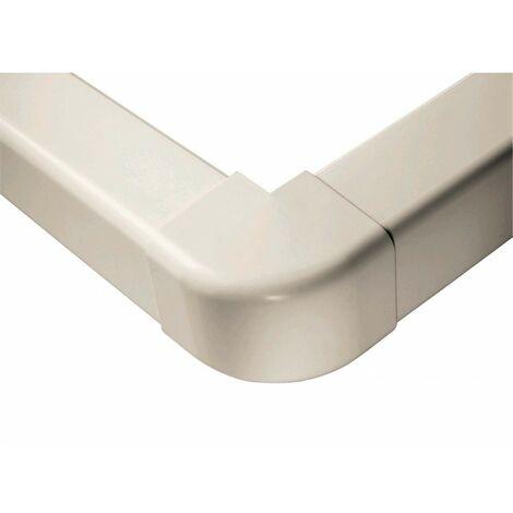 Extérieurs d'angle 90° 80 mm blanc pur