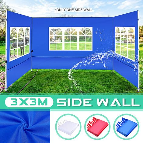 Exterior Impermeable 3x3M Gazebo Marquee Party Carpa Pared lateral Ventana Jardín