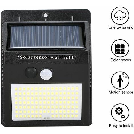 Exterior / Interior ecologico lampara solar impermeable durable lampara de induccion del cuerpo humano, IP55, Negro, 110 LED