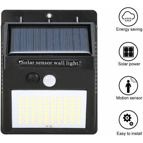 Exterior / Interior ecologico lampara solar impermeable durable lampara de induccion del cuerpo humano, IP55, Negro, 80 LED