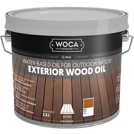 Exterior Oil - Saturateur Huile pour bois d'extérieur écologique - WOCA