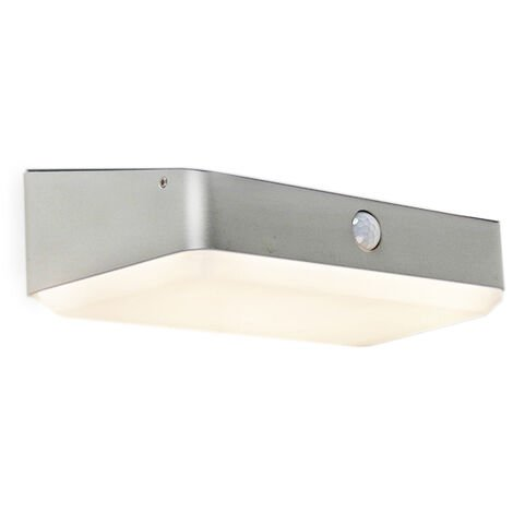 Exterior wall lamp incl. LED on solar with motion sensor - Blox