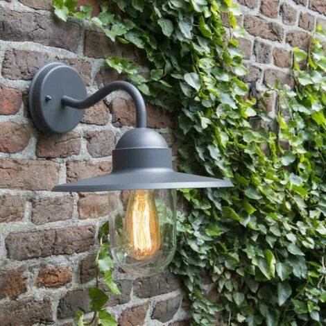 Exterior wall light anthracite IP44 - Kansas graphite