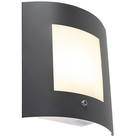 Exterior wall light anthracite with motion sensor IP44 - Emmerald 1