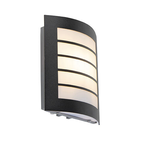 Exterior wall light black IP44 with motion sensor - Miro