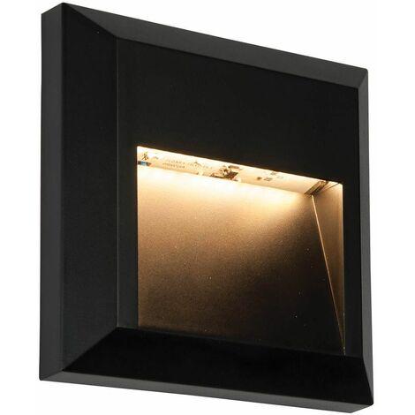 Exterior wall light Severus Black ABS plastic 1.1W