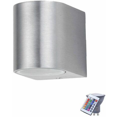 Exteriores terrazas lámpara de pared radiadores ALU equipo de control remoto punto incluyendo lámparas LED RGB