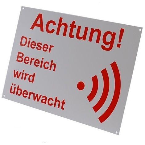 External A4 Alarm Warning Sign (German Language) [005-2013]