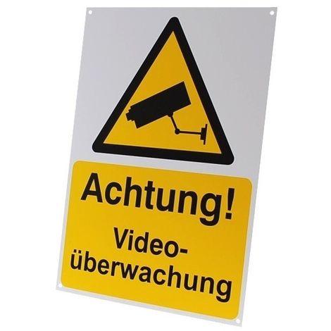 External A4 CCTV Warning Sign (German Language) [002-0504]