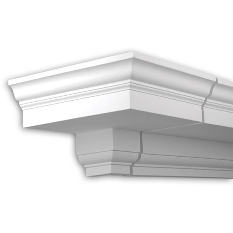 External angle joint element Profhome 401111 Facade moulding Corner element Facade element Neo-Classicism style white