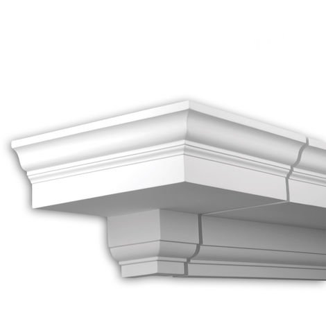 External angle joint element Profhome 401113 Facade moulding Corner element Facade element Neo-Classicism style white