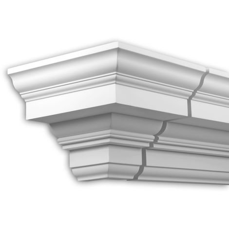 External angle joint element Profhome 401211 Facade moulding Corner element Facade element Neo-Classicism style white