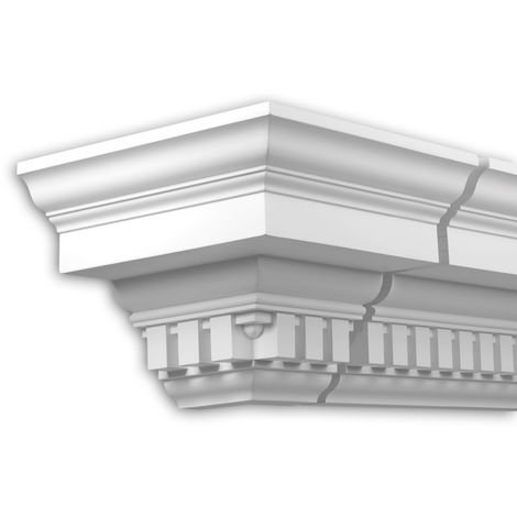 External angle joint element Profhome 401212 Facade moulding Corner element Facade element timeless classic design white