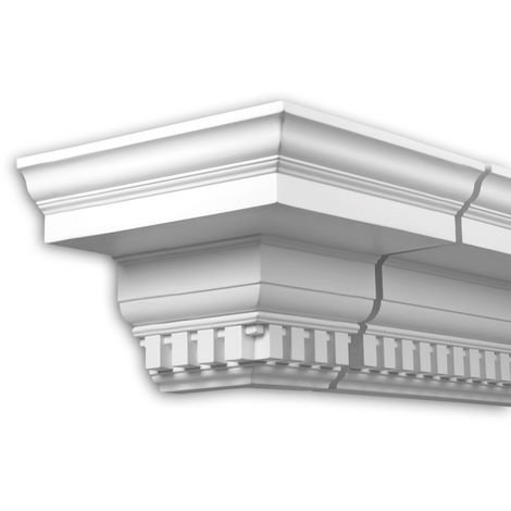 External angle joint element Profhome 401312 Facade moulding Corner element Facade element timeless classic design white