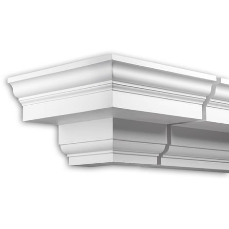 External angle joint element Profhome 402111 Facade moulding Corner element Facade element Neo-Classicism style white