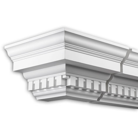 External angle joint element Profhome 402211 Facade moulding Corner element Facade element timeless classic design white