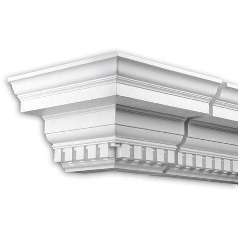 External angle joint element Profhome 402311 Facade moulding Corner element Facade element timeless classic design white