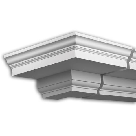 External angle joint element Profhome 431111 Facade moulding Corner element Facade element Neo-Classicism style white