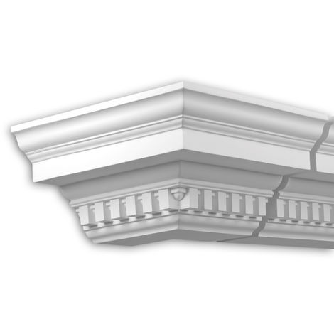 External angle joint element Profhome 431212 Facade moulding Corner element Facade element timeless classic design white