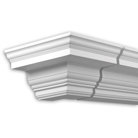 External angle joint element Profhome 431311 Facade moulding Corner element Facade element timeless classic design white
