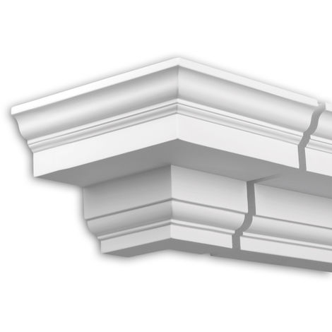 External angle joint element Profhome 432111 Facade moulding Corner element Facade element Neo-Classicism style white
