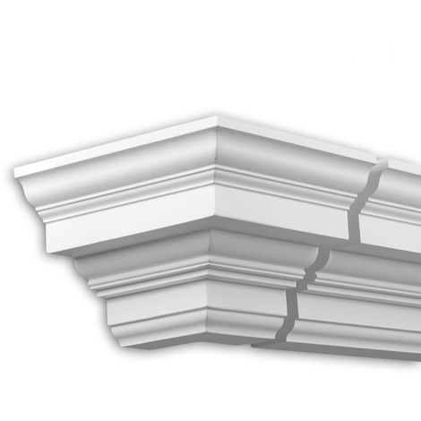 External angle joint element Profhome 432211 Facade moulding Corner element Facade element timeless classic design white