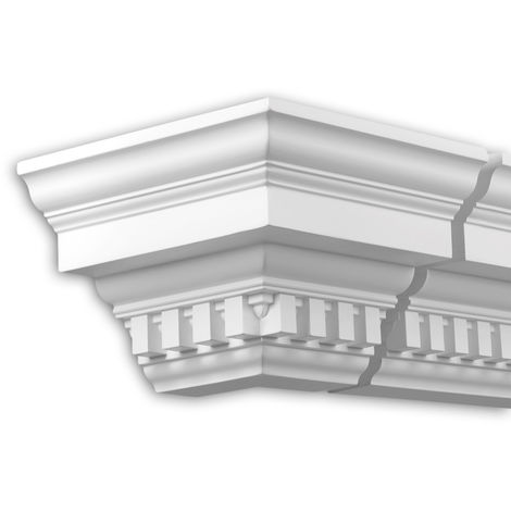 External angle joint element Profhome 432212 Facade moulding Corner element Facade element timeless classic design white