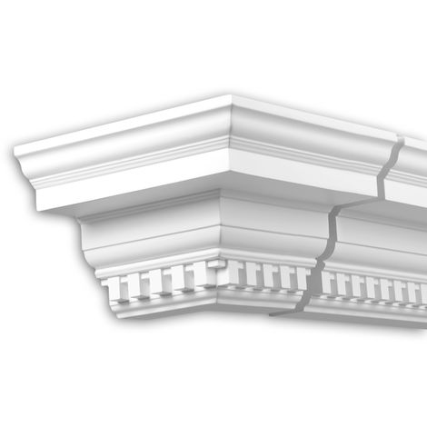 External angle joint element Profhome 432311 Facade moulding Corner element Facade element timeless classic design white