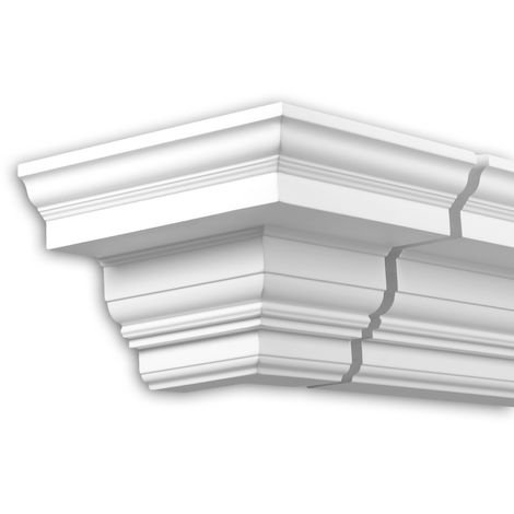 External angle joint element Profhome 432312 Facade moulding Corner element Facade element timeless classic design white