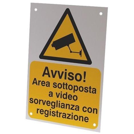 External CCTV Warning Sign (Italian Language) [002-0535]