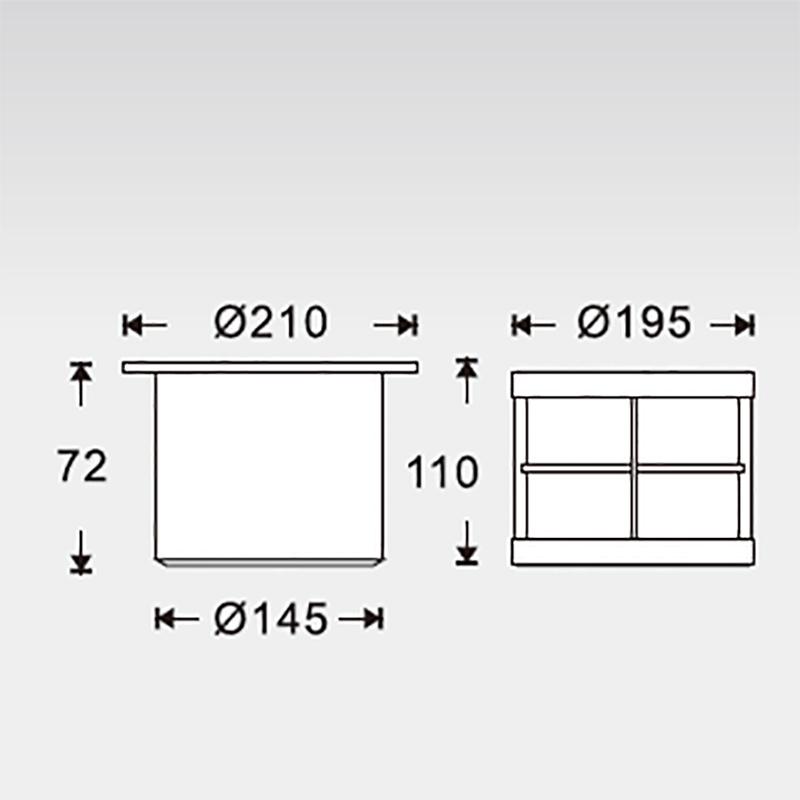 Dimensions du spot à enterrer 24W