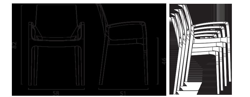 Cream chair by Grand Soleil