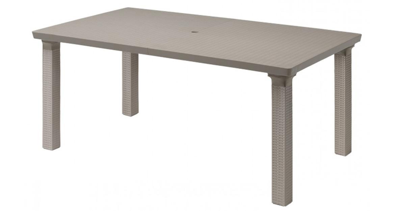Tavolo da giardino allungabile esterno resina estensibile ...
