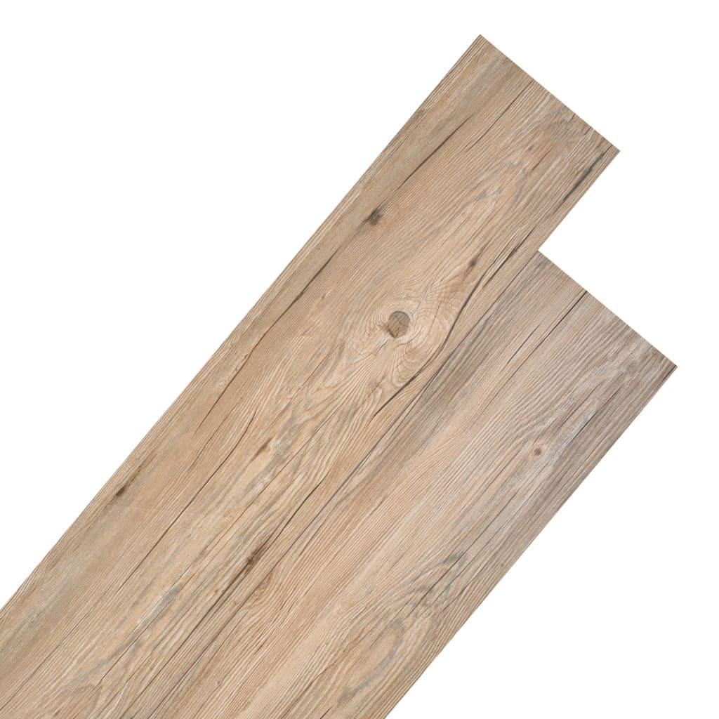 Pavimento Pvc Click Opinioni listoni per pavimentazione in pvc 5,26 m² 2 mm marrone rovere -