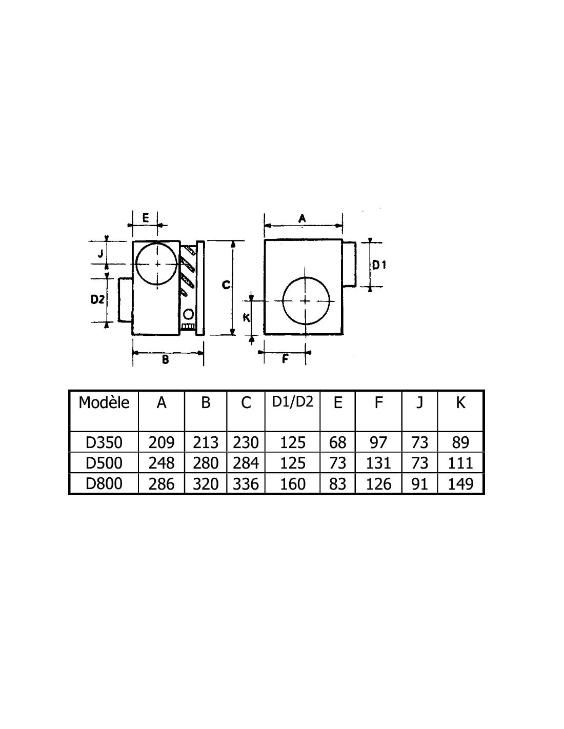 dimensions distributeur d'air chaud de cheminée nather