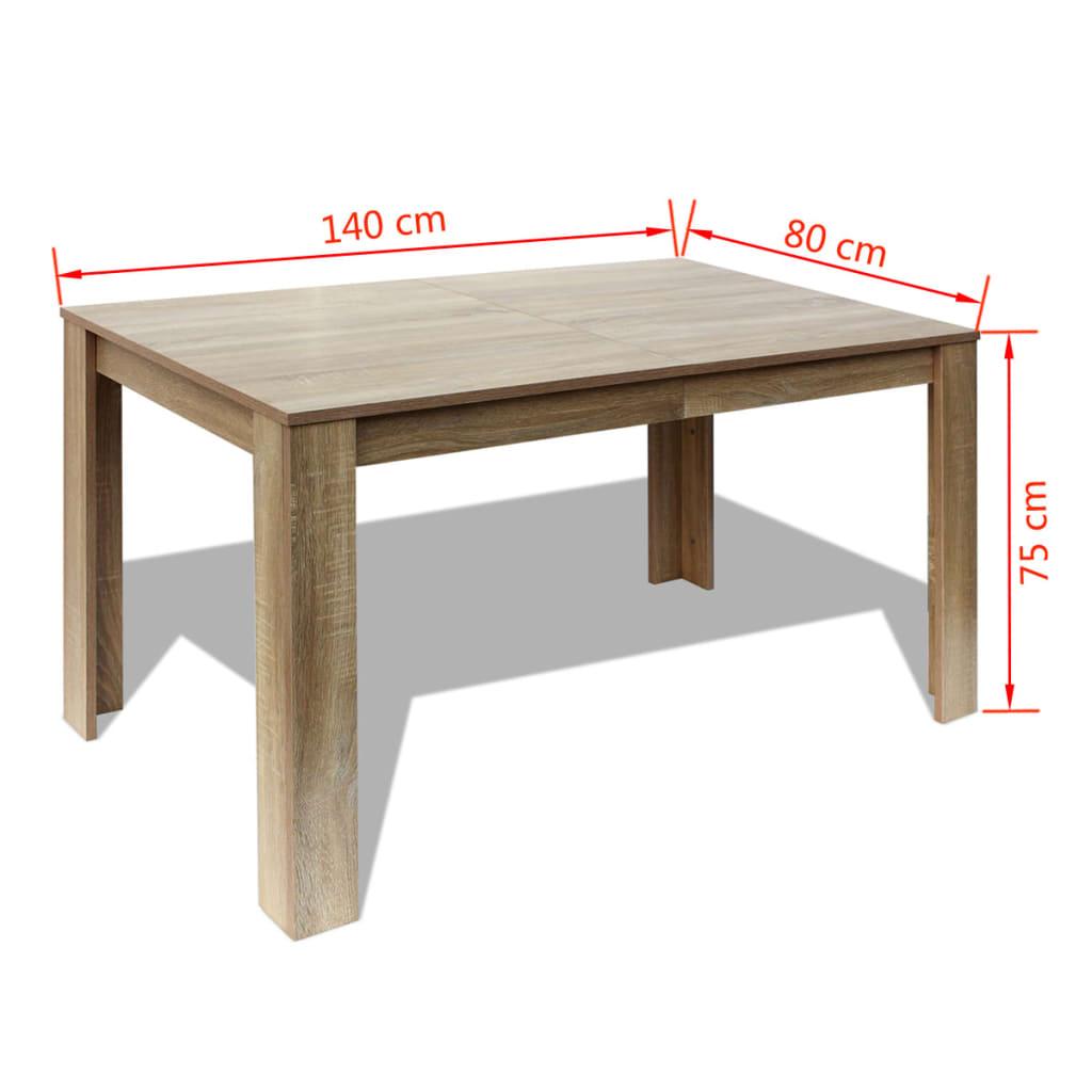 Tavolo da Pranzo 140x80x75 cm Rovere