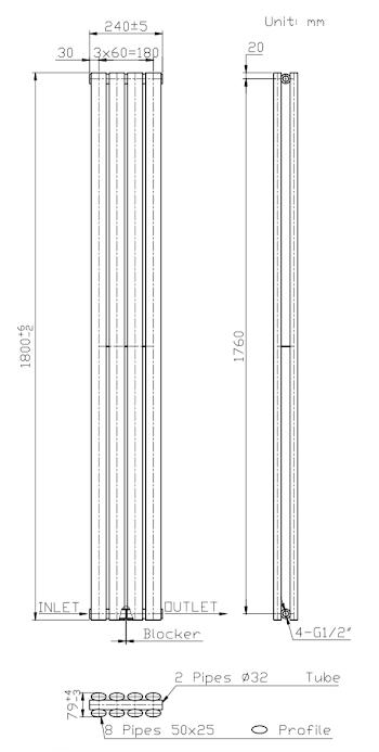 duratherm-horizontal-oval-tube-single-panel-designer-radiator-600-x-420mm-anthracite