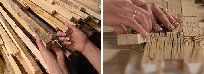 parement bois fabriqué à la main