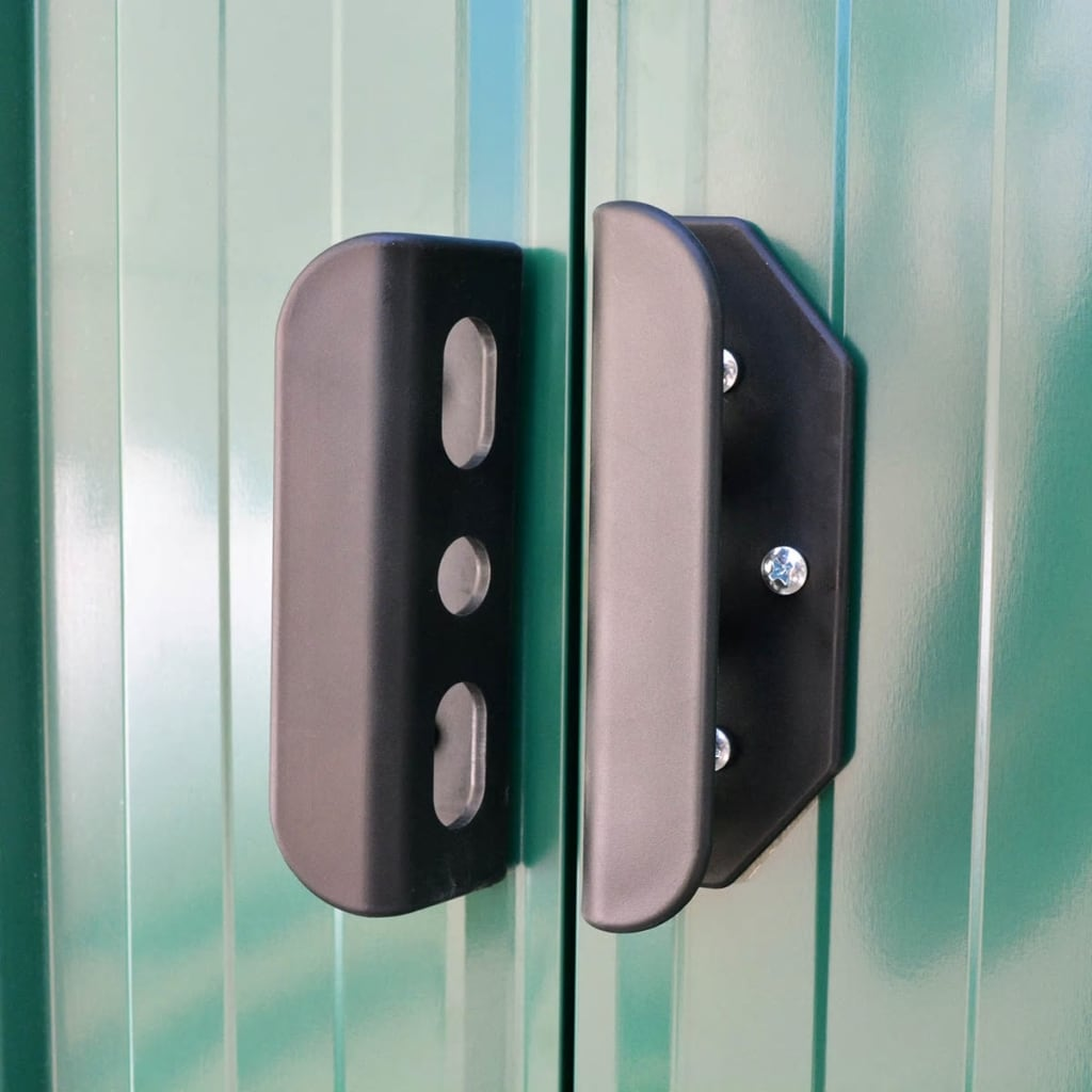 Tetto In Lamiera Opinioni capanno per attrezzi in metallo verde 257x205x178 cm -