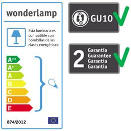 Etiqueta foco empotrable Wonderlamp - Lamparas.es