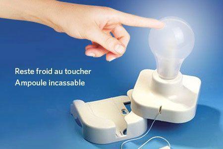 Ampoule A Pile Ni Clou Ni Vis Incassable Placard Autocollant