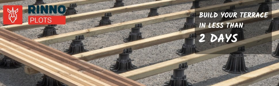 Pedestal-for-decking-rinno-plots