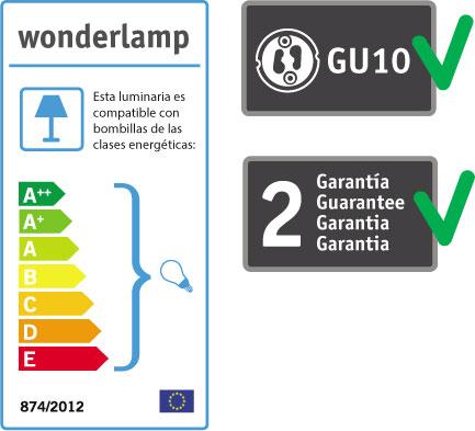 Wonderlamp foco empotrable con portalamparas GU10