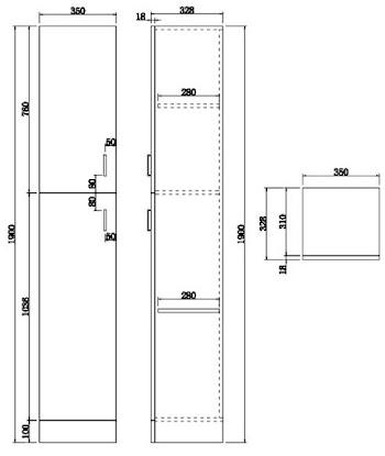 Essence White Gloss 300 x 300 4 Draw Unit