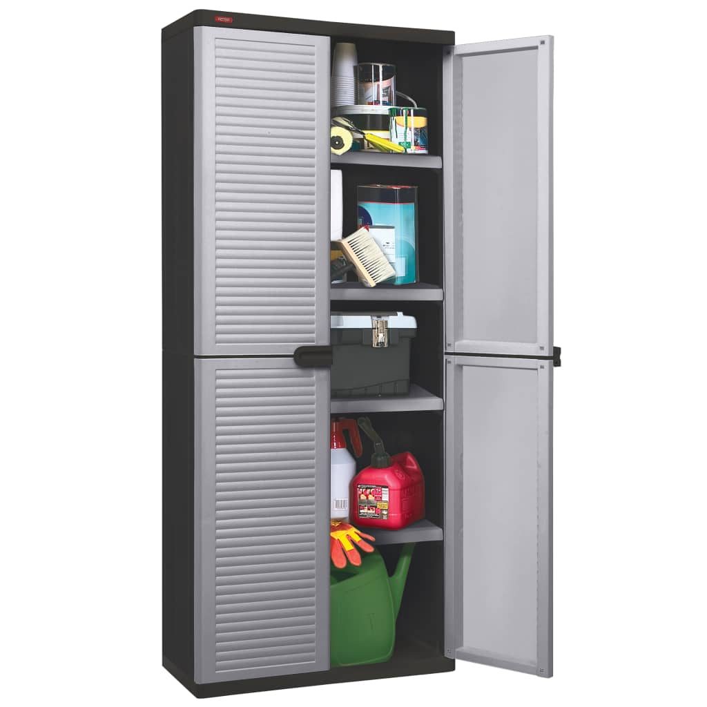 Keter Garden Utility Cabinet Space Winner Louvre White and ...
